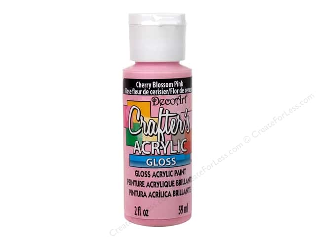 DecoArt Crafter's Acrylic Paint 2 oz. #G24 Gloss Cherry Blossom Pink