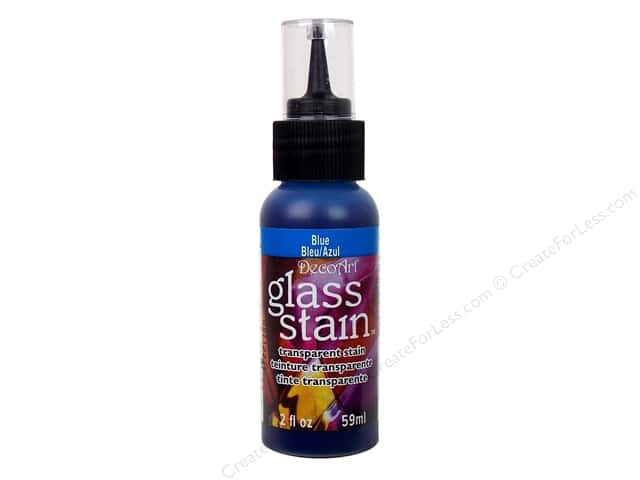 DecoArt Glass Stain 2 oz. Transparent Blue