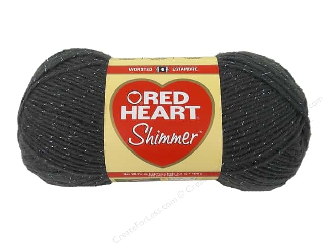 Red Heart Shimmer Yarn #1403 Pewter 280 yd.