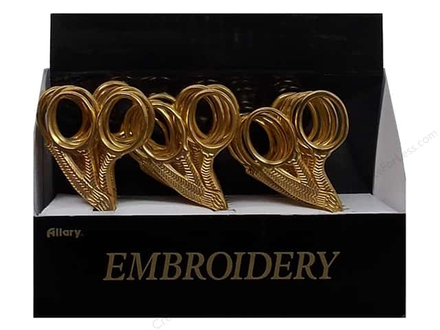 Allary Stork Embroidery Scissors - Gold 18 pc.