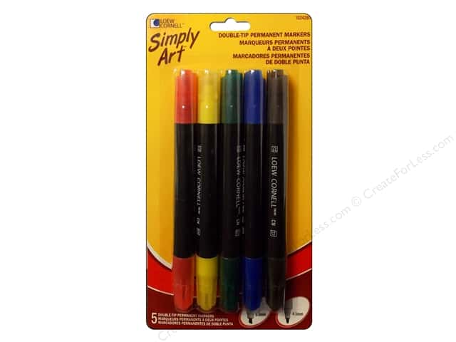Loew Cornell Simply Art Markers Double Tip 5pc
