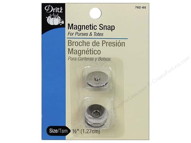 Dritz Magnetic Snaps 1/2 in. Nickel 2 pc.