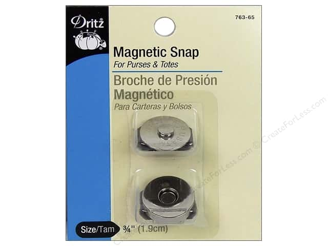 Dritz Magnetic Snaps 3/4 in. Nickel 2 pc.