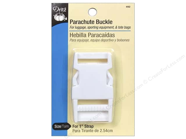 Parachute Buckle by Dritz For 1 in. Strap White