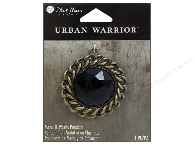 Blue Moon Beads Metal & Plastic Pendants Urban Warrior Black Rhinestone