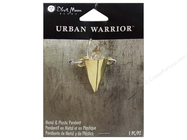 Blue Moon Metal & Plastic Pendant Urban Warrior Gold Cone with Crystals