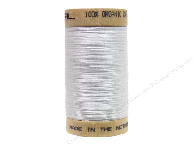 Scanfil Organic Cotton Thread 300 yd. #800 White