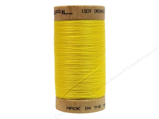 Scanfil Organic Cotton Thread 300 yd. #803 Lemon