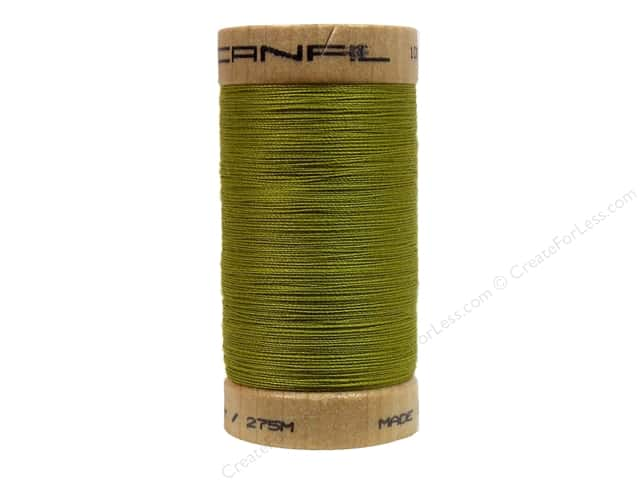 Scanfil Organic Cotton Thread 300 yd. #823 Celery