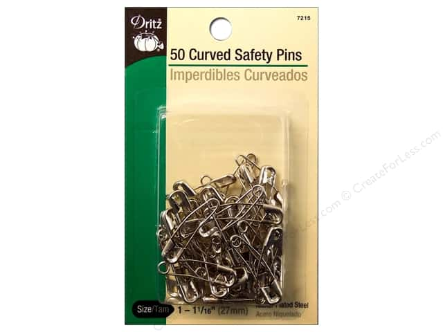 Curved Safety Pins by Dritz  1 1/16 in. Nickel 50pc.