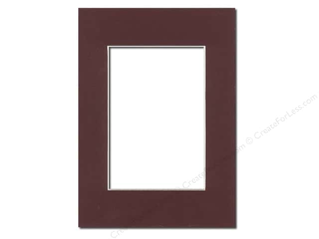 Pre-cut Photo Mat Board by Accent Design Cream Core 5 x 7 in. for 3 1/2 x 5 in. Photo Maroon