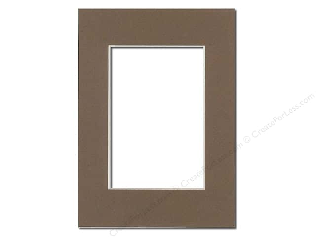 PA Framing Pre-cut Photo Mat Board Cream Core 5 x 7 in. for 3 1/2 x 5 in. Photo Chestnut