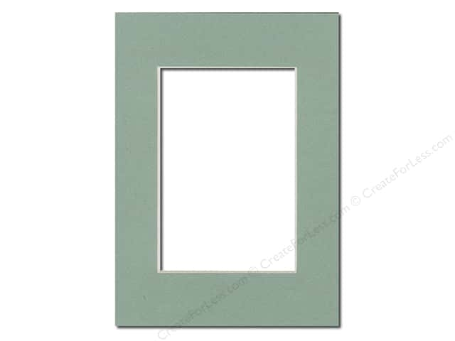 PA Framing Pre-cut Photo Mat Board Cream Core 5 x 7 in. for 3 1/2 x 5 in. Photo Sea Foam