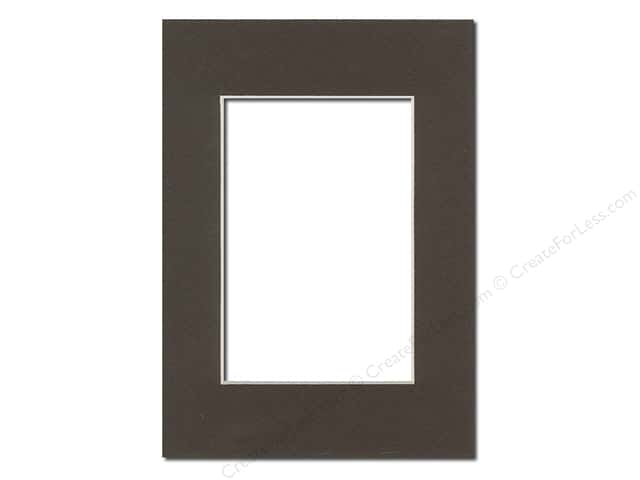 Pre-cut Photo Mat Board by Accent Design Cream Core 5 x 7 in. for 3 1/2 x 5 in. Photo Cappuccino