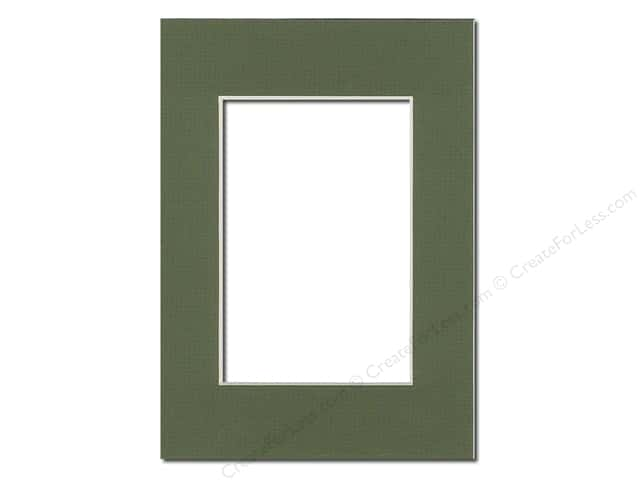 Pre-cut Photo Mat Board by Accent Design Cream Core 5 x 7 in. for 3 1/2 x 5 in. Photo Dill