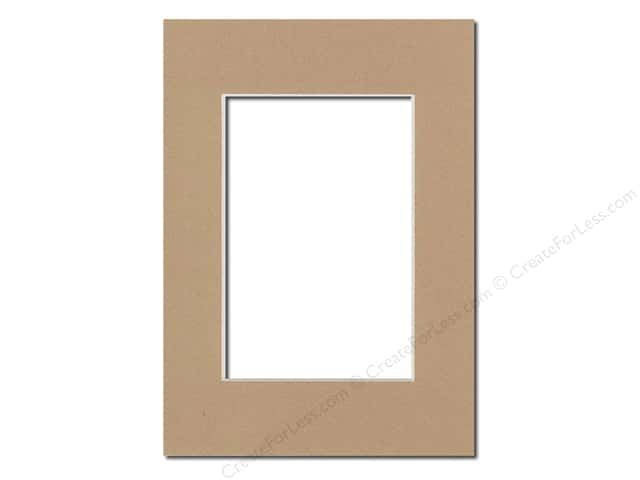 Pre-cut Photo Mat Board by Accent Design Cream Core 5 x 7 in. for 3 1/2 x 5 in. Photo Pear
