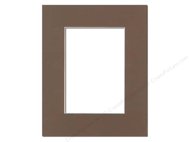 Pre-cut Photo Mat Board by Accent Design Cream Core 8 x 10 in. for 5 x 7 in. Photo Chestnut