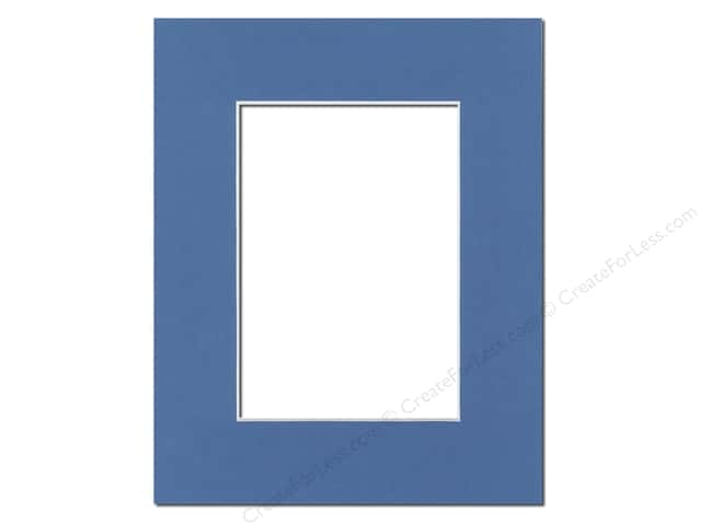 Pre-cut Photo Mat Board by Accent Design White Core 8 x 10 in. for 5 x 7 in. Photo Bay Blue