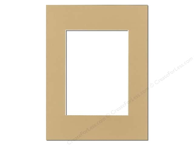 Pre-cut Photo Mat Board by Accent Design Cream Core 9 x 12 in. for 6 x 8 in. Photo Pear