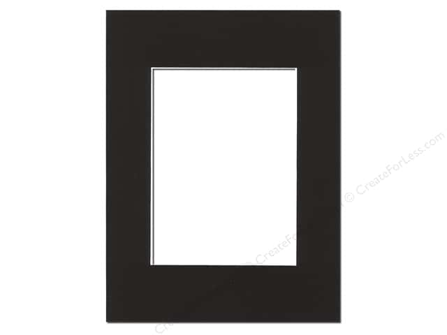 Pre-cut Photo Mat Board by Accent Design White Core 9 x 12 in. for 6 x 9 in. Photo Black