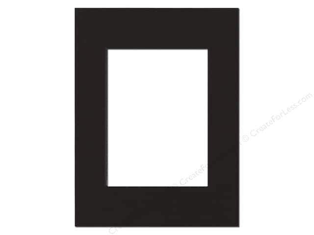 Pre-cut Double Thick Gallery Photo Mat Board by Accent Design Black Core 8 x 12 in. for 6 x 8 in. Photo Black