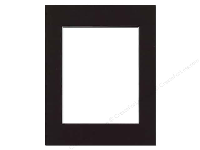 Pre-cut Photo Mat Board by Accent Design White Core 11 x 14 in. for 8 x 10 in. Photo Black