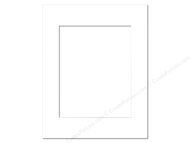 Pre-cut Photo Mat Board by Accent Design White Core 11 x 14 in. for 8 x 10 in. Photo White