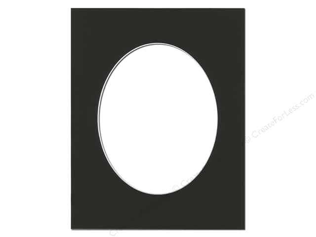 Pre-cut Oval Photo Mat Board by Accent Design White Core 11 x 14 in. for 8 x 10 in. Photo Black