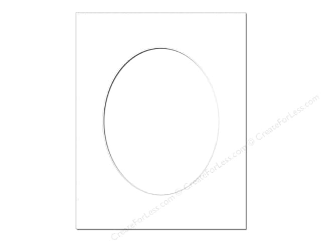 Pre-cut Oval Photo Mat Board by Accent Design White Core 11 x 14 in. for 8 x 10 in. Photo White