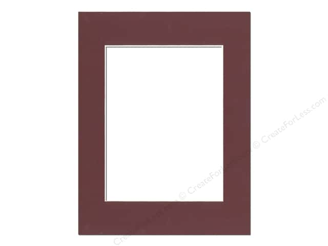 Pre-cut Photo Mat Board by Accent Design Cream Core 14 x 18 in. for 10 x 13 in. Photo Maroon