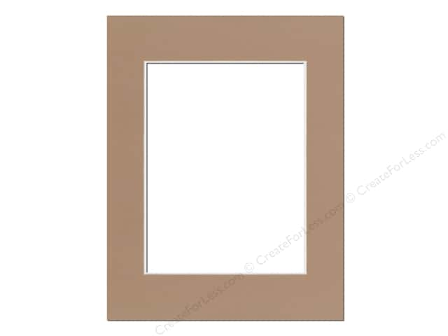 Pre-cut Photo Mat Board by Accent Design Cream Core 14 x 18 in. for 10 x 13 in. Photo Chestnut
