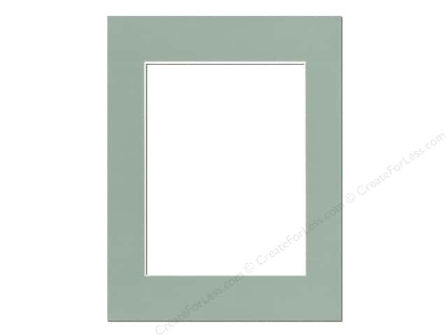 PA Framing Pre-cut Photo Mat Board Cream Core 14 x 18 in. for 10 x 13 in. Photo Sea Foam