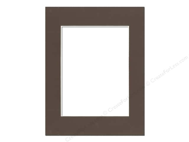 PA Framing Pre-cut Photo Mat Board Cream Core 14 x 18 in. for 10 x 13 in. Photo Cappuccino