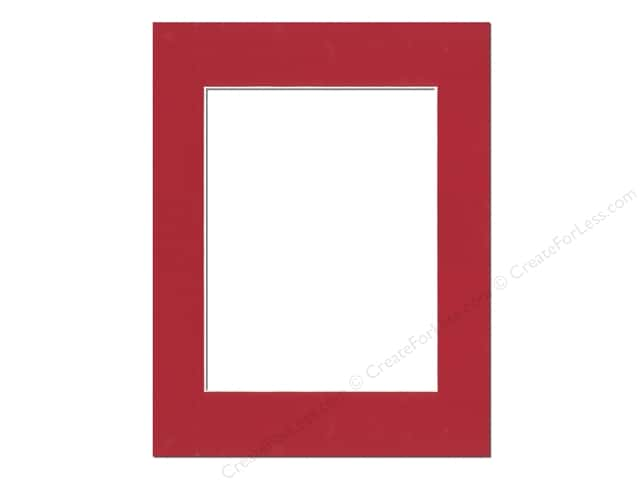 Pre-cut Photo Mat Board by Accent Design Cream Core 14 x 18 in. for 10 x 13 in. Photo Deep Red