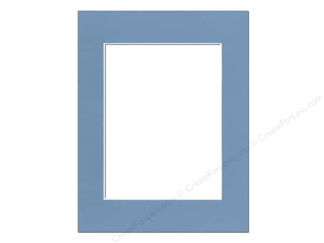 Pre-cut Photo Mat Board by Accent Design White Core 14 x 18 in. for 10 x 13 in. Photo Bay Blue