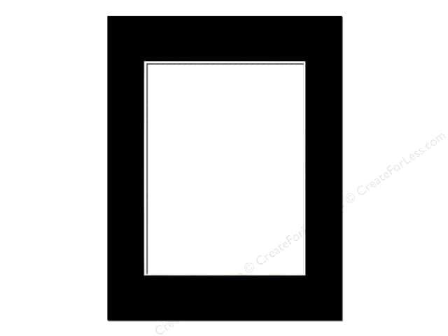 Pre-cut Photo Mat Board by Accent Design White Core 14 x 18 in. for 10 x 13 in. Photo Black