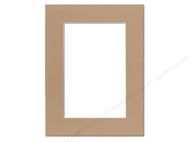 Pre-cut Photo Mat Board by Accent Design Cream Core 12 x 16 in. for 8 x 12 in. Photo Pear