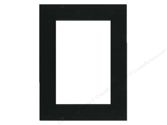 Pre-cut Double Thick Gallery Photo Mat Board by Accent Design Black Core 12 x 16 in. for 8 x 12 in. Photo Black
