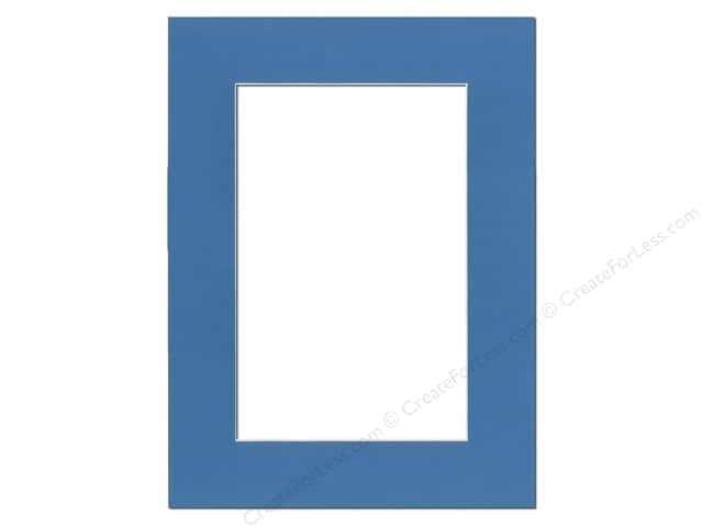 PA Framing Pre-cut Photo Mat Board White Core 12 x 16 in. for 8 x 12 in. Photo Bay Blue
