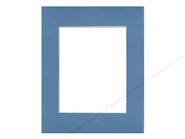 Pre-cut Photo Mat Board by Accent Design White Core 16 x 20 in. for 11 x 14 in. Photo Bay Blue