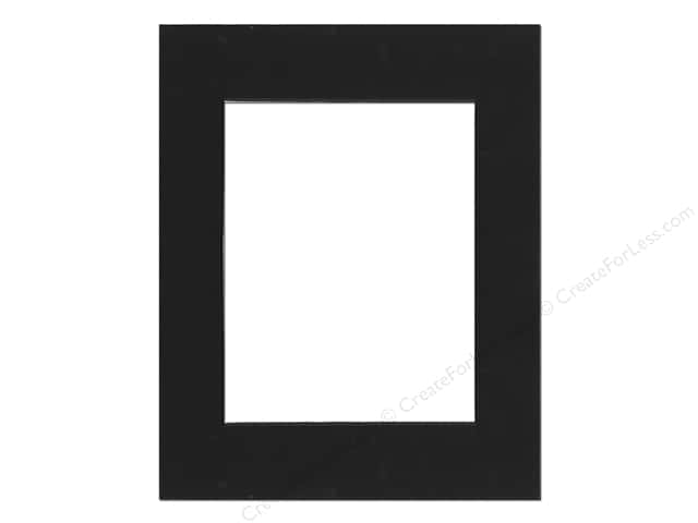 Pre-cut Double Thick Gallery Photo Mat Board by Accent Design Black Core 16 x 20 in. for 11 x 14 in. Photo Black