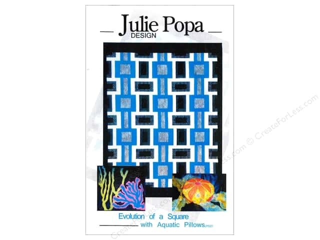 Julie Popa Design Evolution Of A Square With Aquatic Pillows Pattern