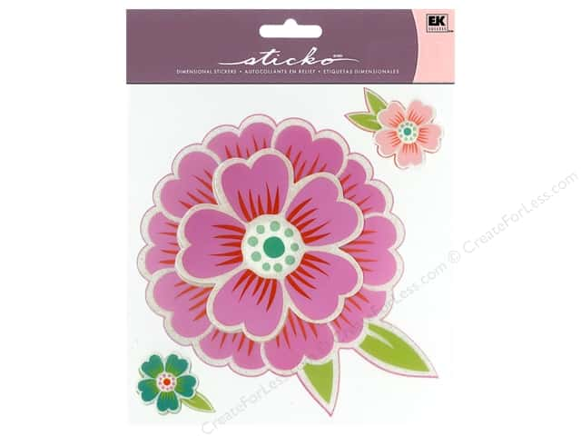 EK Sticko Stickers Big Petals Pink