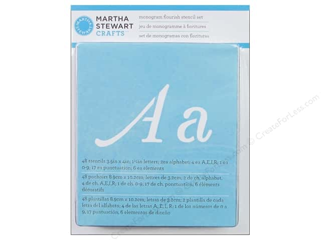 Martha Stewart Stencils by Plaid Paper Alphabet Monogram Flourish