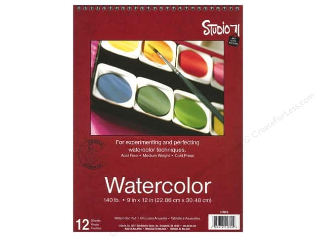 Darice Studio 71 Watercolor Pad 9 x 12 in. 140 lb. Cold Press