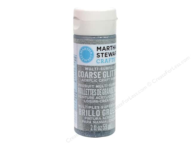 Martha Stewart Craft Paint by Plaid Glitter Coarse Sterling 2 oz.