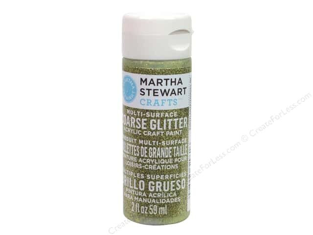 Martha Stewart Craft Paint by Plaid Coarse Glitter Florentine Gold 2 oz.