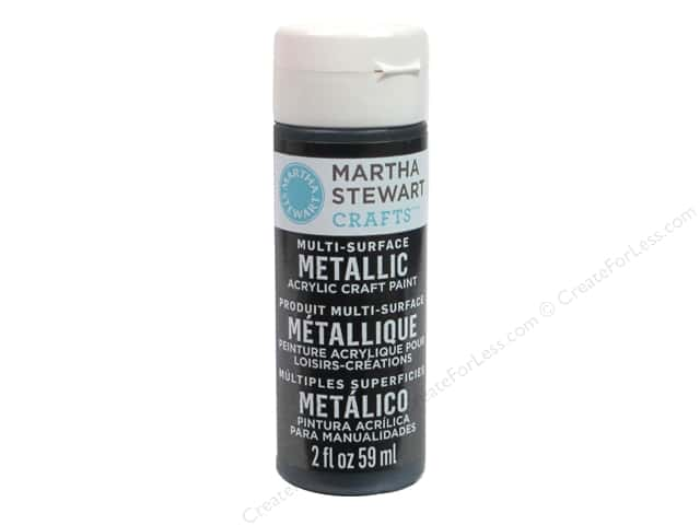 Martha Stewart Craft Paint by Plaid Metallic Black Nickel 2 oz.