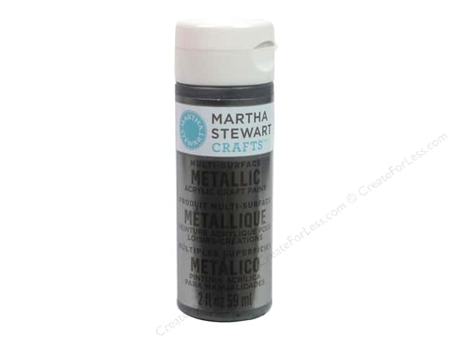 Martha Stewart Craft Paint by Plaid Metallic Brushed Pewter 2 oz.