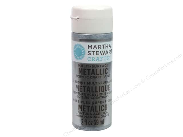 Martha Stewart Craft Paint by Plaid Metallic Pure Platinum 2 oz.
